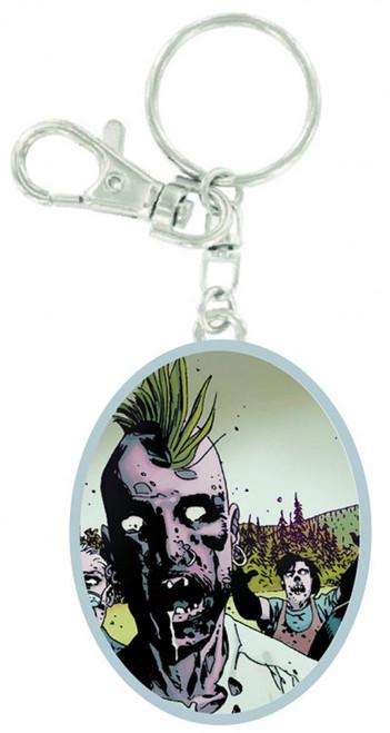 The Walking Dead Zombie Mohawk Keychain