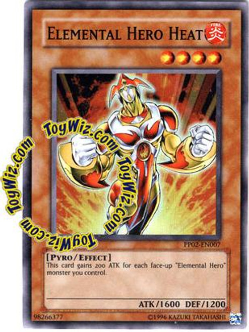 YuGiOh GX Premium Pack 2 Super Rare Elemental Hero Heat PP02-EN007