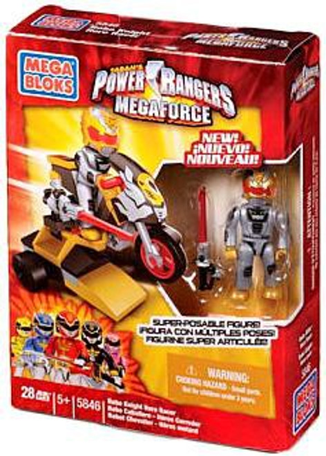 Mega Bloks Power Rangers MegaForce Robo Knight Hero Racer Set #5846