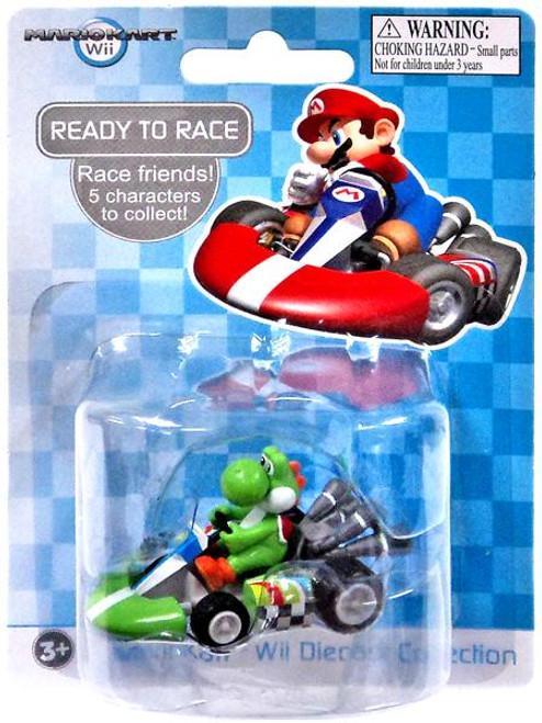 Super Mario Mario Kart Wii Diecast Collection Yoshi 2-Inch Diecast Vehicle