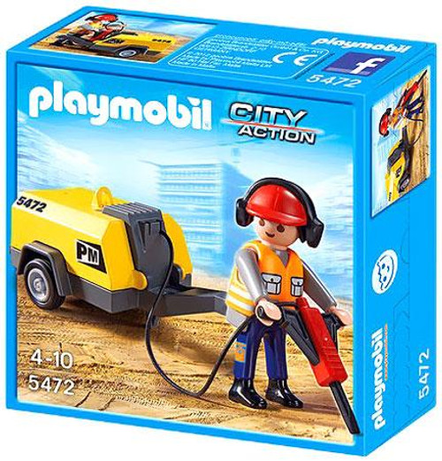Playmobil City Action Construction Worker & Jack Hammer Set #5472