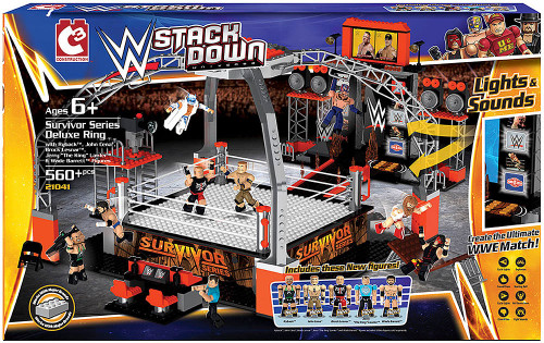 WWE Wrestling C3 Construction StackDown Survivor Series Deluxe Ring Playset #21041