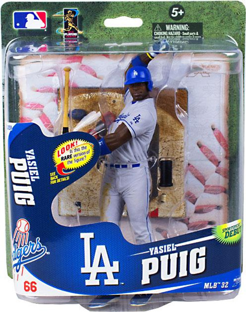 McFarlane Toys MLB Los Angeles Dodgers Sports Picks Series 32 Yasiel Puig Action Figure [Gray Uniform]