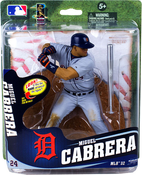McFarlane Toys MLB Detroit Tigers Sports Picks Series 32 Miguel Cabrera Action Figure [Silver Slugger Bat]