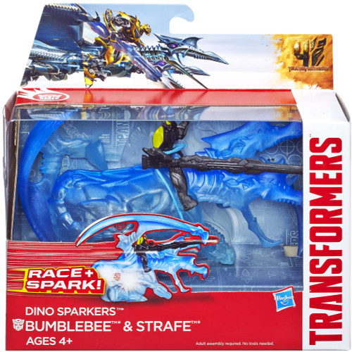 Transformers Age of Extinction Dino Sparkers Bumblebee & Strafe Action Figure