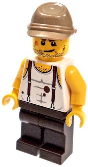 LEGO Pharaoh's Quest Mac McCloud Minifigure #1 [Red Suspenders and Blood Stains Loose]