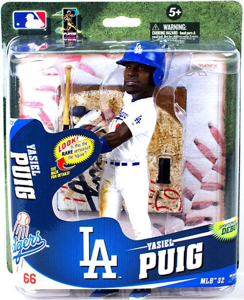 McFarlane Toys MLB Los Angeles Dodgers Sports Picks Series 32 Yasiel Puig Action Figure [White Uniform, Oversize Head]