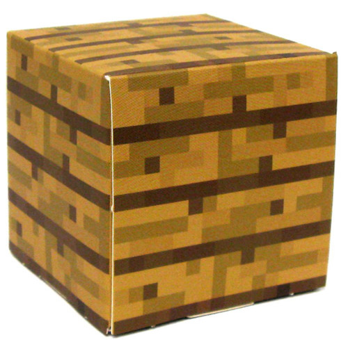 Minecraft Wooden Plank Block Papercraft [Single Piece]