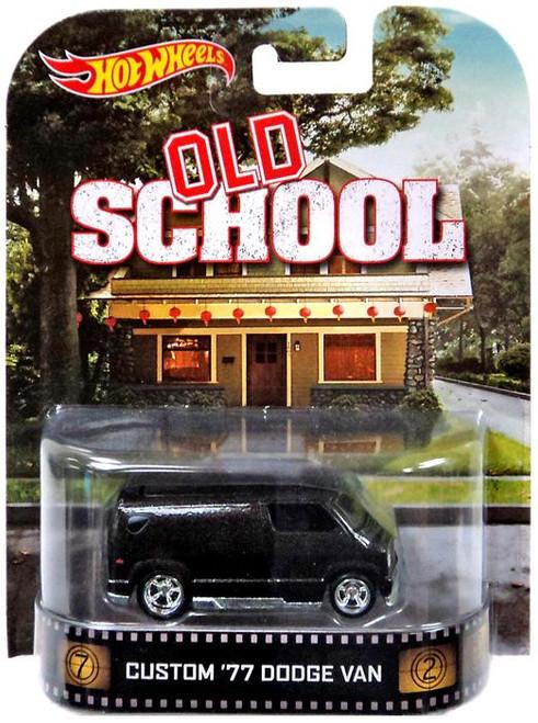 Old School Hot Wheels Retro Custom '77 Dodge Van Diecast Vehicle