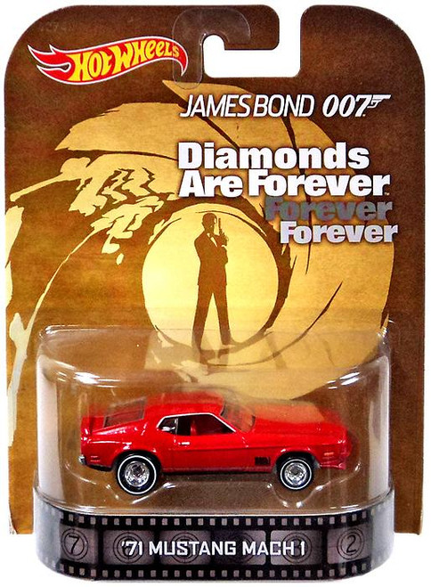 James Bond Hot Wheels Retro '71 Mustang Mach 1 Diecast Vehicle [Diamonds Are Forever]
