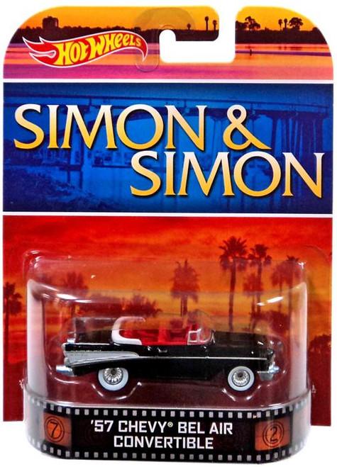 Simon & Simon Hot Wheels Retro '57 Chevy Bel Air Convertible Diecast Vehicle