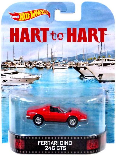 Hart to Hart Hot Wheels Retro Ferrari Dino 246 GTS Diecast Vehicle
