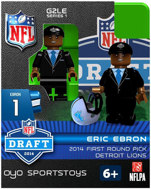 Detroit Lions NFL 2014 Draft First Round Picks Eric Ebron Minifigure