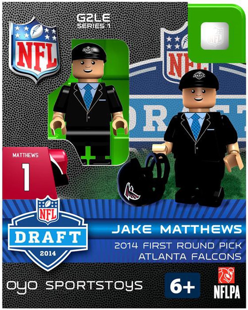 Atlanta Falcons NFL 2014 Draft First Round Picks Jake Matthews Minifigure
