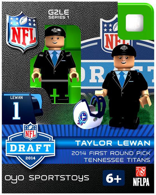 Tennessee Titans NFL 2014 Draft First Round Picks Taylor Lewan Minifigure