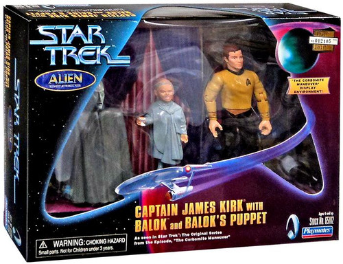 Star Trek The Original Series Captain James Kirk with Balok & Balok's Puppet Action Figure 3-Pack