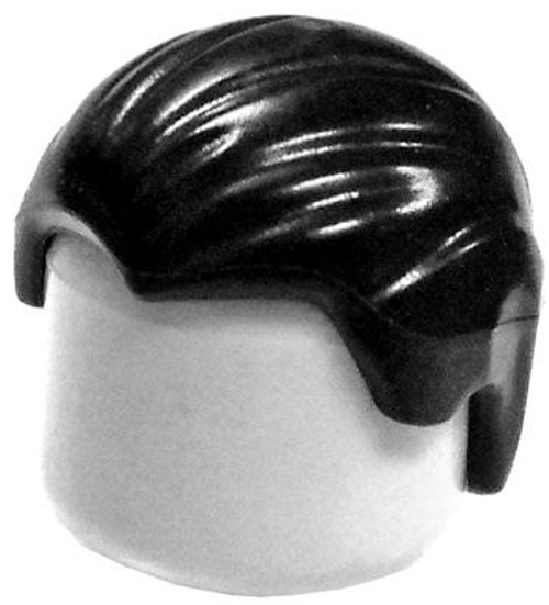 LEGO Minifigure Parts Short Black Combed Front To Back Loose Hair [Loose]