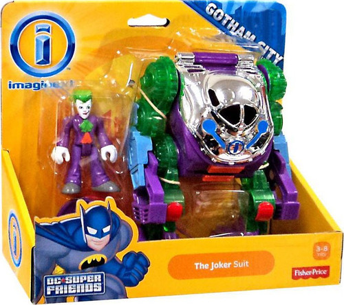 Fisher Price DC Super Friends Gotham City Imaginext The Joker Suit Exclusive Figure Set