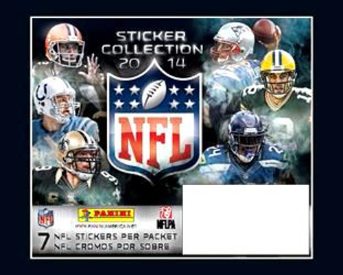 NFL 2014 Sticker Collection Box Box