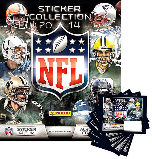 NFL Sticker Collection 2014 Sticker Album [Includes 6 sticker packs]