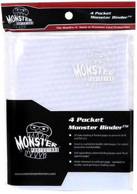 Card Supplies White Holofoil 4-Pocket Binder