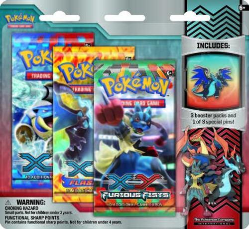 Pokemon X & Y Mega Evolution Collector Pin Pack Special Edition [Mega Blue Dragon Charizard Pin]