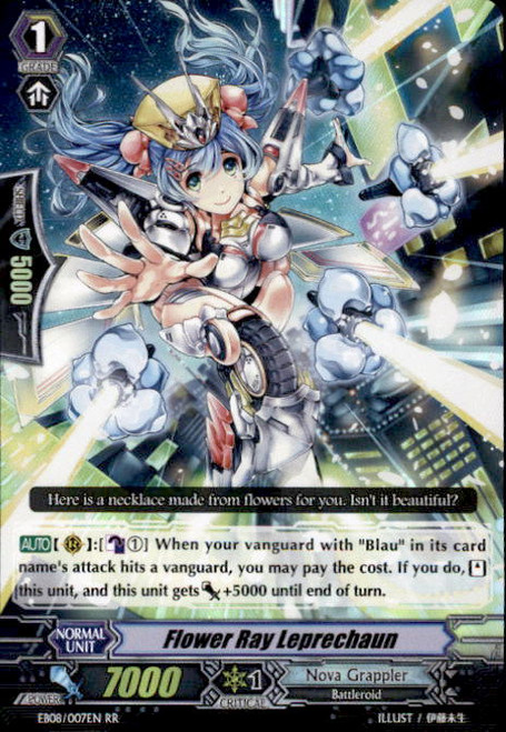 Cardfight Vanguard Champions of the Cosmos RR Rare Flower Ray Leprechaun EB08/007