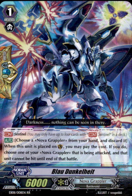 Cardfight Vanguard Champions of the Cosmos RR Rare Blau Dunkelheit EB08/008