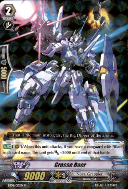 Cardfight Vanguard Champions of the Cosmos Rare Grosse Baer EB08/012