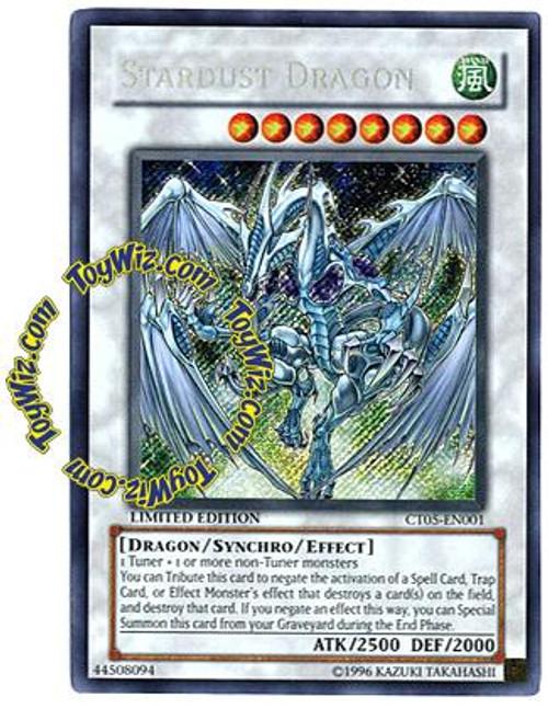 YuGiOh 5D's 2008 Holiday Tin Secret Rare Stardust Dragon CT05-EN001