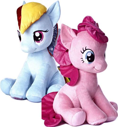 My Little Pony Friendship is Magic 26 Inch Pinkie Pie & Rainbow Dash Plush