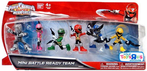 Power Rangers Super Megaforce Mini Battle Ready Team Exclusive 2-Inch Mini Figure 6-Pack