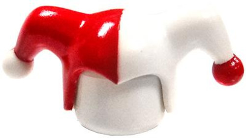 LEGO Minifigure Parts White & Red Jester Cap [Loose]