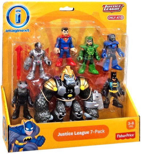 Fisher Price DC Imaginext Justice League 7-Pack Exclusive 3-Inch Mini Figure Set [Gorilla Grodd]