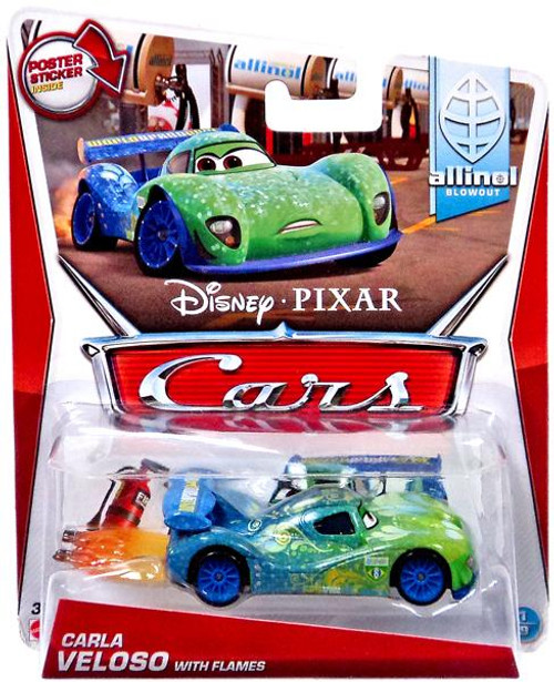 Disney Cars Mainline Carla Veloso with Flames Diecast Car #1 of 9