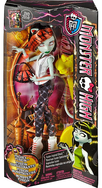 Monster High Freaky Fusion Ghouls Scarah Screams 10.5-Inch Doll