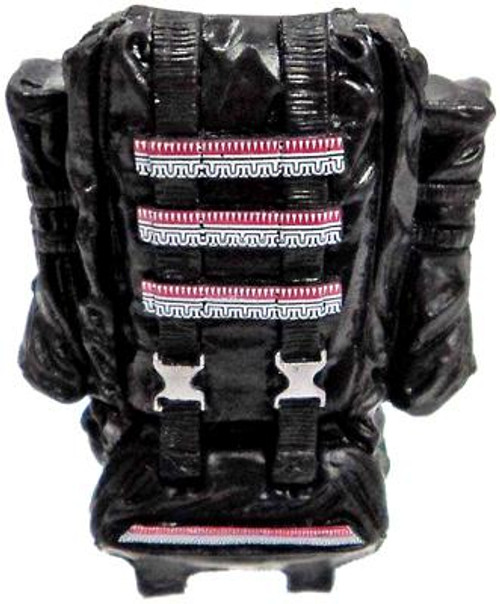 GI Joe Loose Deluxe Opening Backpack Action Figure Accessory [Black with Tribal Details Loose]