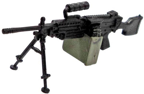 GI Joe Loose Weapons SAW Machine Gun with Drum Magazine Action Figure Accessory [Black Loose]