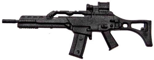 GI Joe Loose Weapons G36C Rifle Action Figure Accessory [Black Loose]