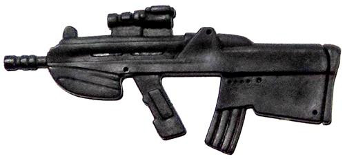 GI Joe Loose Weapons TAR-21 Rifle Action Figure Accessory [Black Loose]