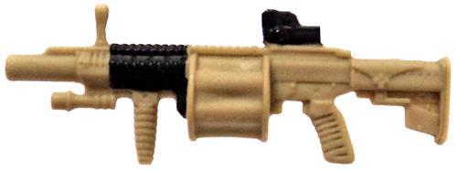 GI Joe Loose Weapons MGL-140 Grenade Launcher Action Figure Accessory [Tan & Black Loose]