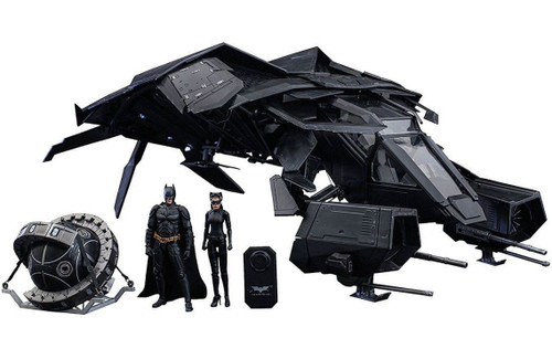 The Dark Knight Rises Movie Masterpiece Compact The Bat With Batman, Selina Kyle & Fusion Reactor 1/12 Collectible Figure Set