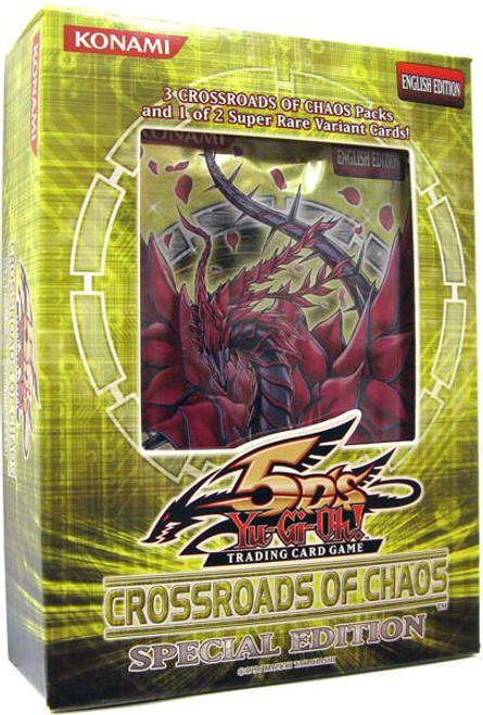 YuGiOh Crossroads of Chaos Special Edition Pack [3 Booster Packs & 1 Random Promo Card] [Sealed]
