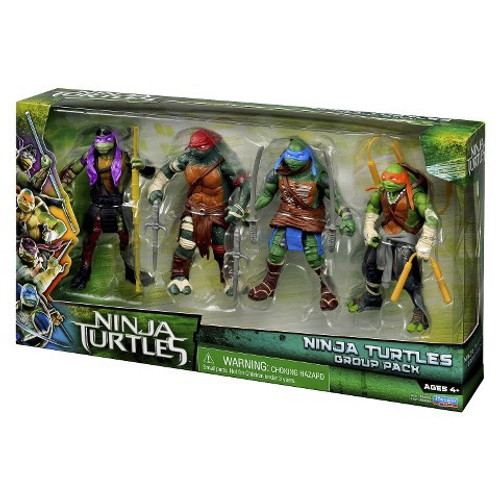 Teenage Mutant Ninja Turtles 2014 Movie Ninja Turtles Group Exclusive Action Figure 4-Pack