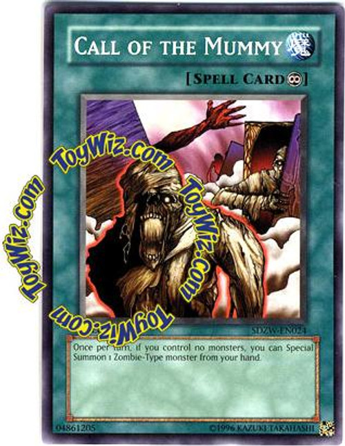 YuGiOh Structure Deck: Zombie World Common Call of the Mummy SDZW-EN024