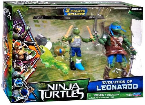 Teenage Mutant Ninja Turtles 2014 Movie Evolution of Leonardo Action Figure 2-Pack