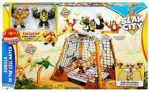 WWE Wrestling Slam City Gorilla in the Cell Match Action Figure Playset