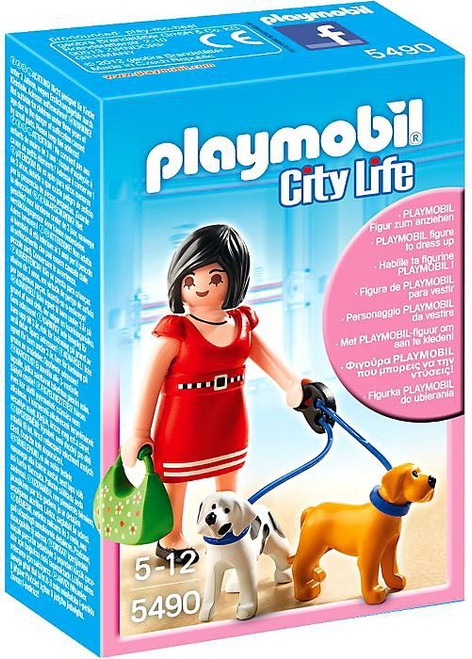 Playmobil City Life Woman with Puppies Set #5490