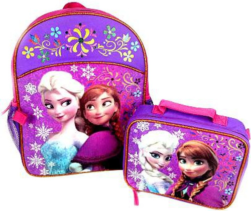 Disney Frozen Anna & Elsa Backpack & Lunch Tote Combo Kit