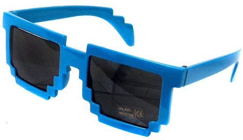 Minecraft Pixelated Sunglasses Accessory [Blue]